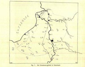Het gebied waar kruudmoes gegeten werd is in 1930 in kaart gebracht door Hendrik Uittien.